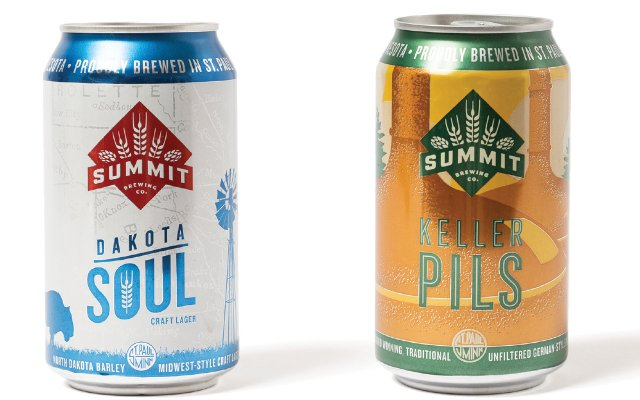 Two cans of Summit beer