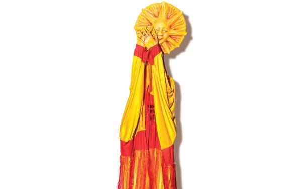 Large yellow sun puppet