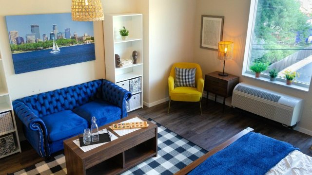 pillars of prospect park winning design with pops of yellow, royal blue, and black+white plaid