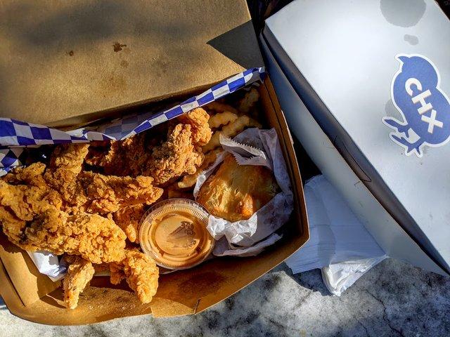 box of fried chicken