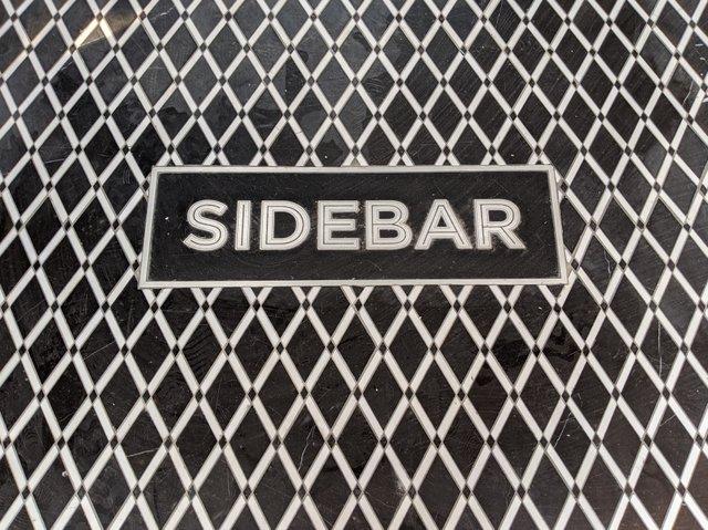sidebar sign