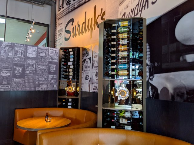 bottles and booths at sidebar