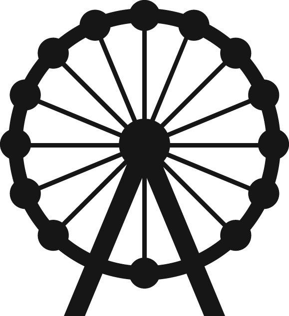 Ferris wheel vector illustration – Scheels