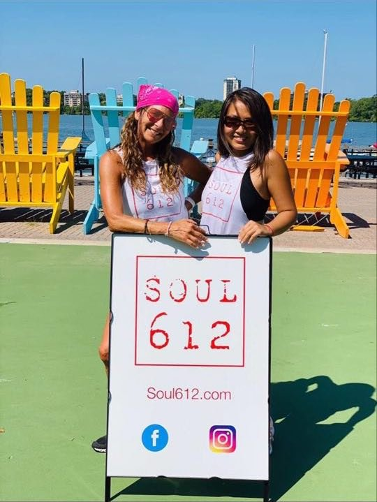 Leslie Fhima and student Danni Hu at a Soul612 Class