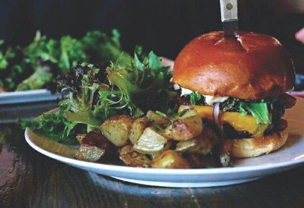 Burger at Staghead Gastropub