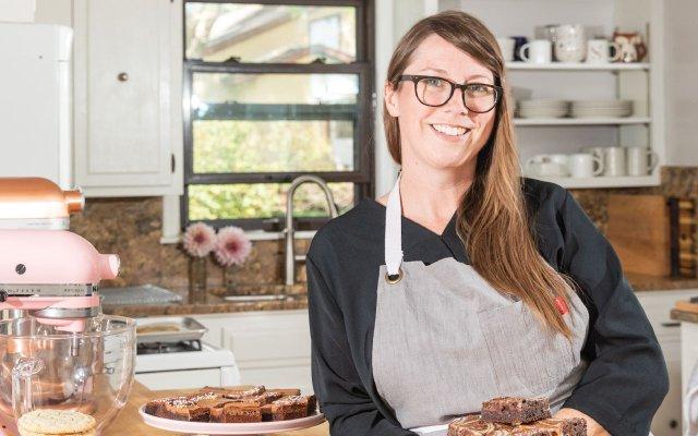 Sarah Kieffer in her kitchen