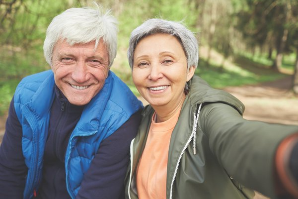 Couple Smiling in Selfie – Cosmetic Dentistry