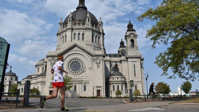 Mikah Meyer Running through the Twin Cities