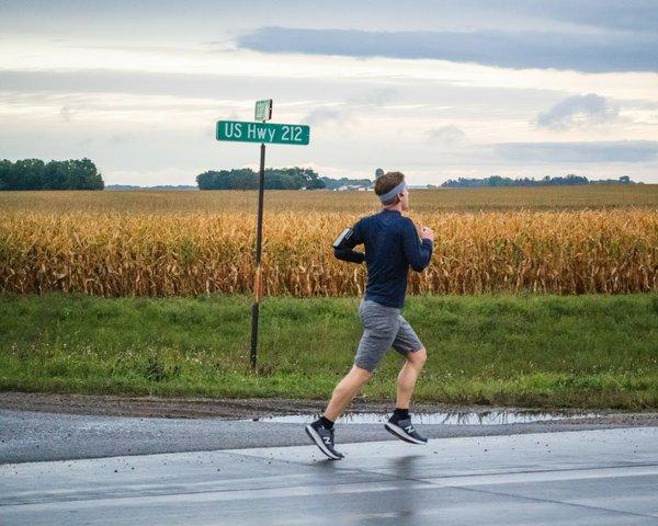 Mikah Meyer Starting his Run Across Minnesota