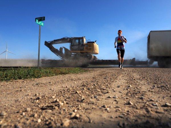 Mikah Meyer Running in Rural Minnesota
