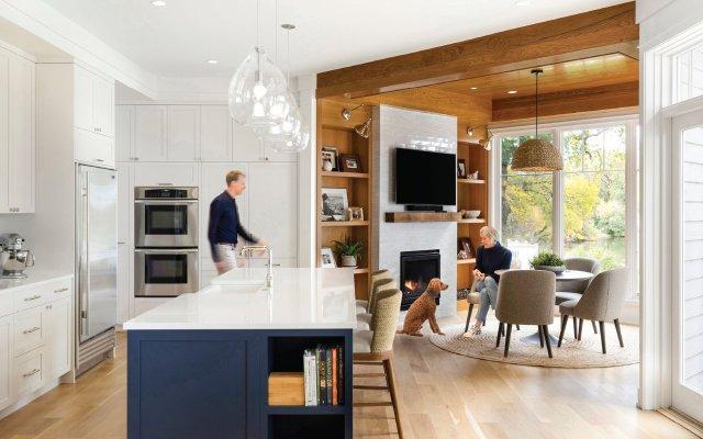 kitchen and cozy breakfast nook