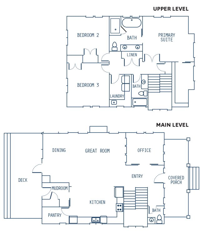 the house floor plan