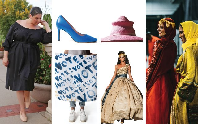 Six fashion images on a grid