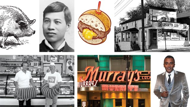 image grid of several restaurant related images