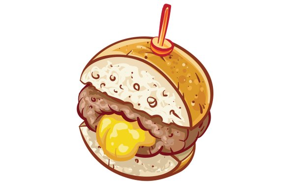 illustration of a Juicy Lucy