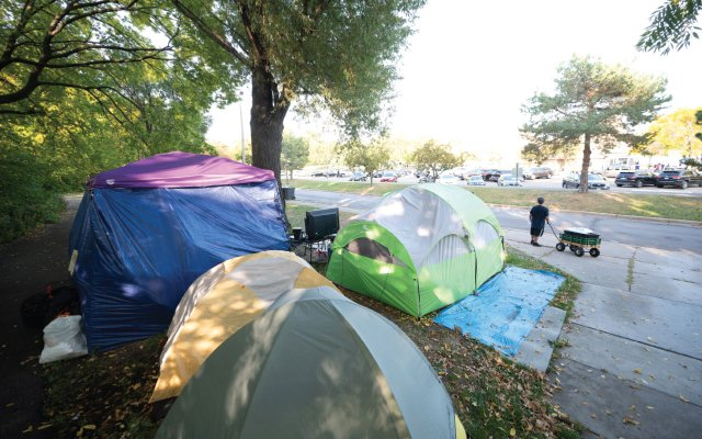 The Lake Harriet homeless encampment