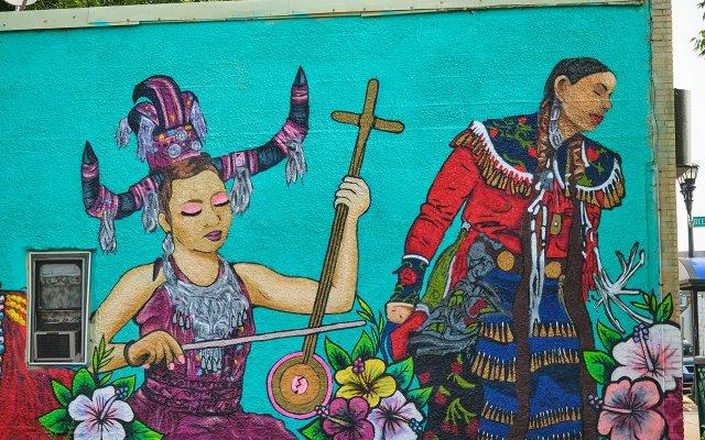 Indigenous Roots mural by City of Mischief Murals