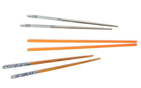 Three sets of chopsticks