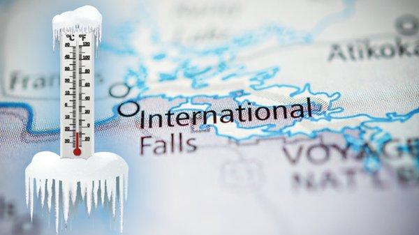 International Falls Map Thermometer