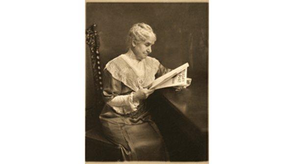 Woman Reading Saturday Evening Post