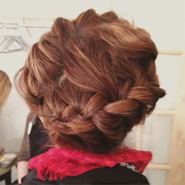 Style editor Allison Kaplan in a crown braid