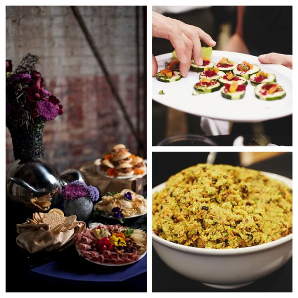 A montage of gluten free and dairy free items from Chowgirls Killer Catering