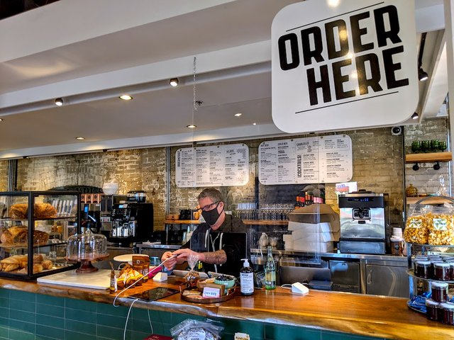 the order counter at vivir