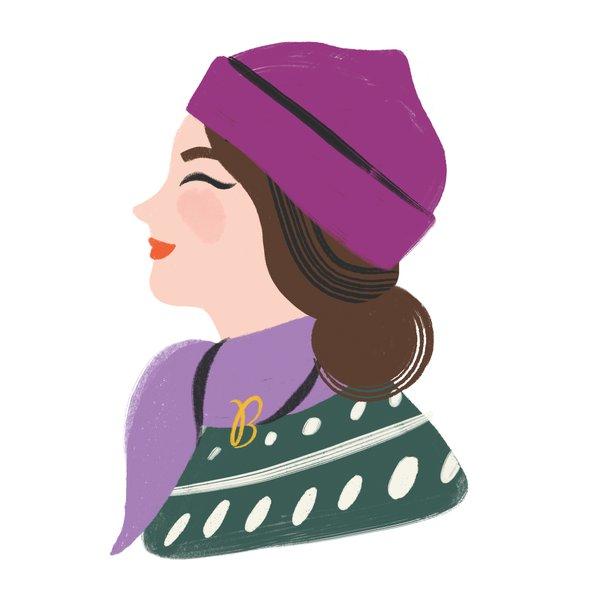 Ms. B Scarf Illustration