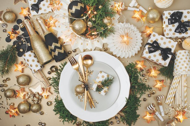 Table Set for Holiday Party