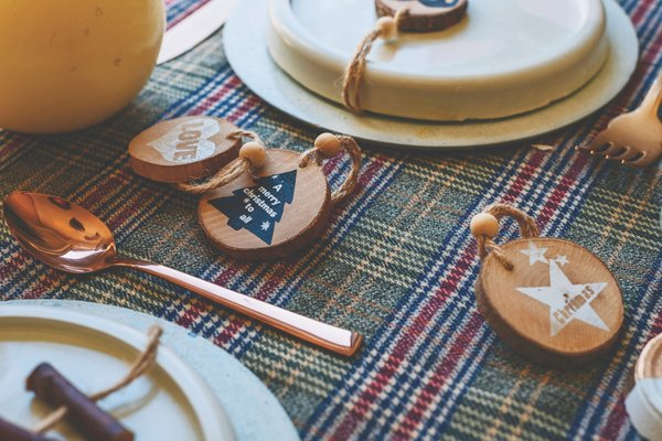 Patterned Table Setting