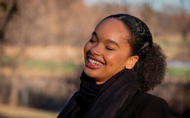 Angela Rose Myers laughing