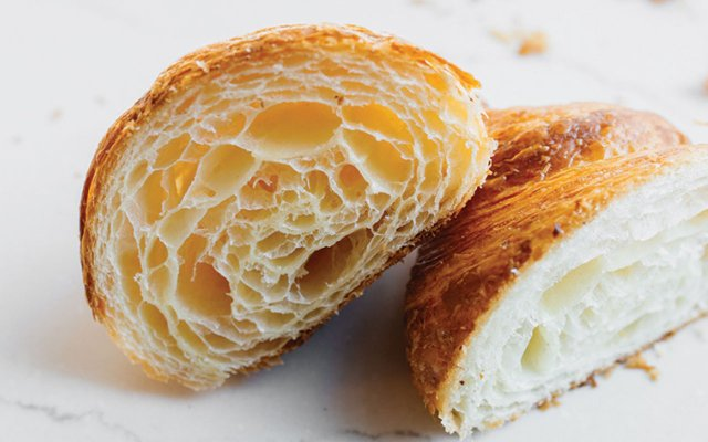 croissant cut in two