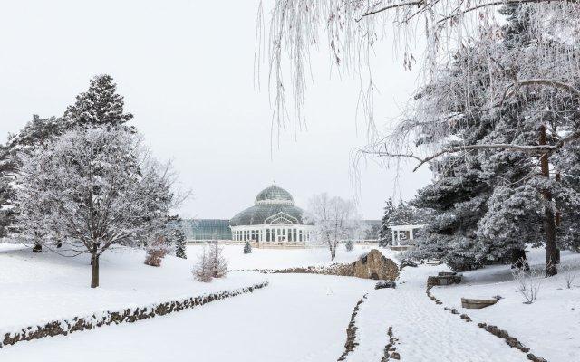 The Marjorie McNeely Conservatory in winter