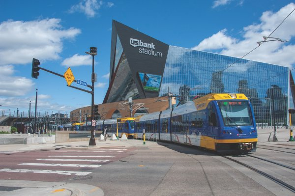 Lightrail in Downtown Minneapolis