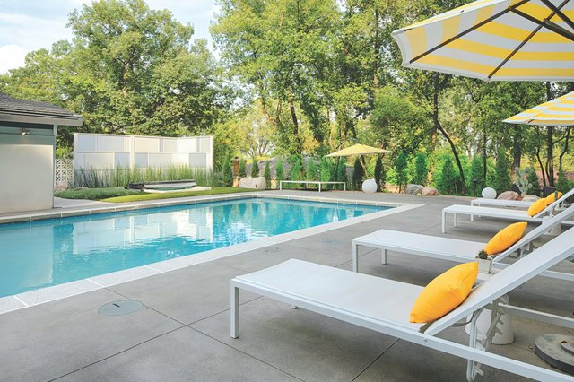 Pool Area by Biota Landscaping