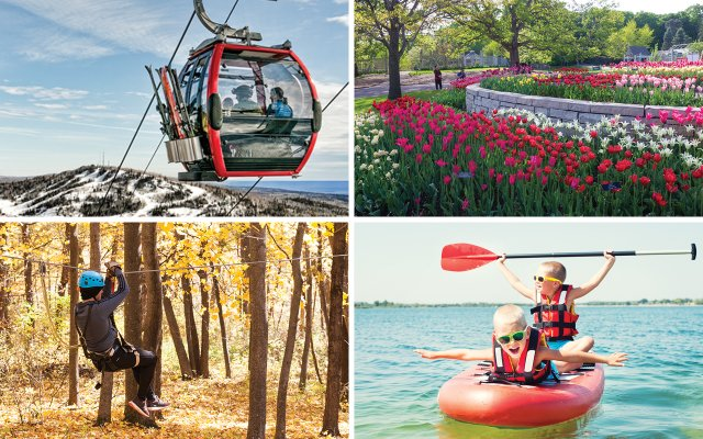 All seasons getaways photo collage