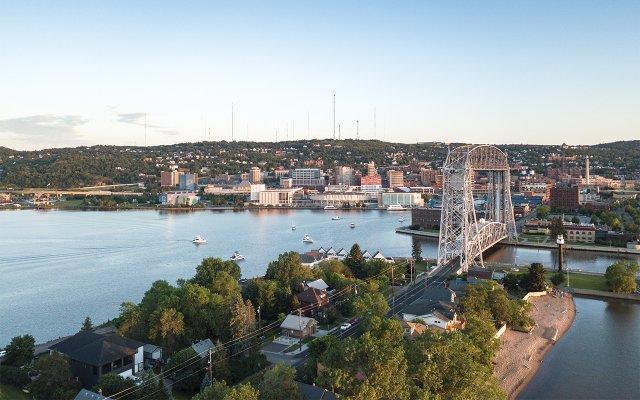 Duluth skyline with lift bridge