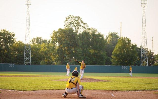 Baseball team on a summer afternoon