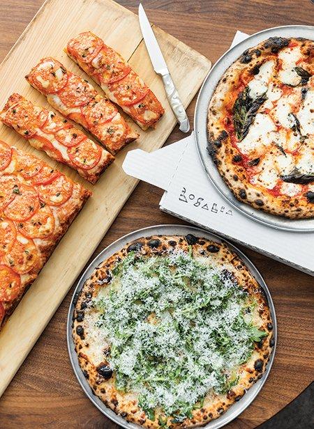 Argentinian and Italian Neapolitan pizzas from Rosalia
