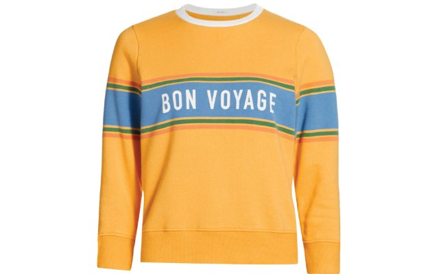 Rugby shirt that says Bon Voyage on it