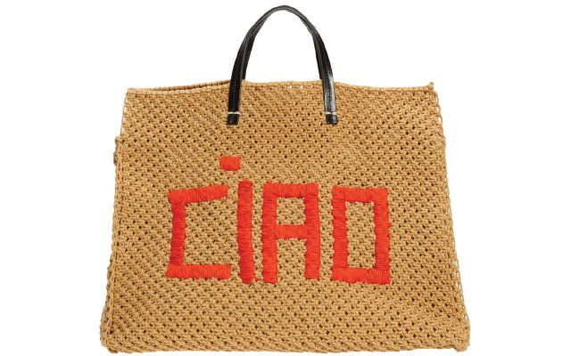 carryall with CIAO on it