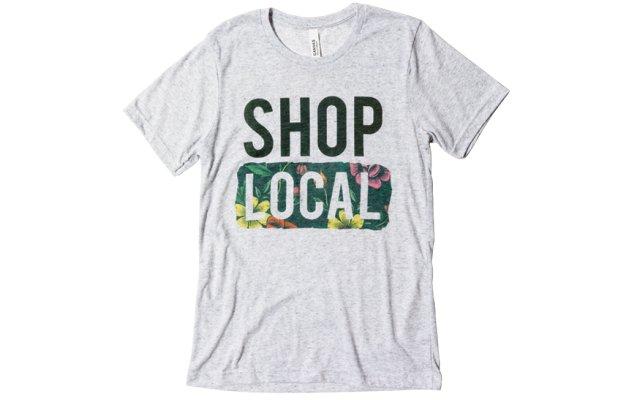 Shop local tee shirt
