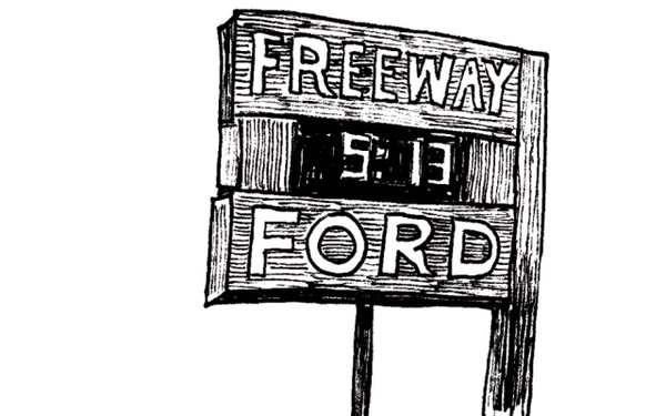 Illustration a Freeway Ford's clock