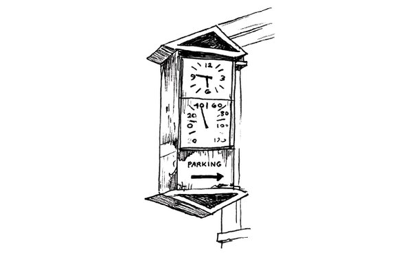 Illustration of a commercial clock