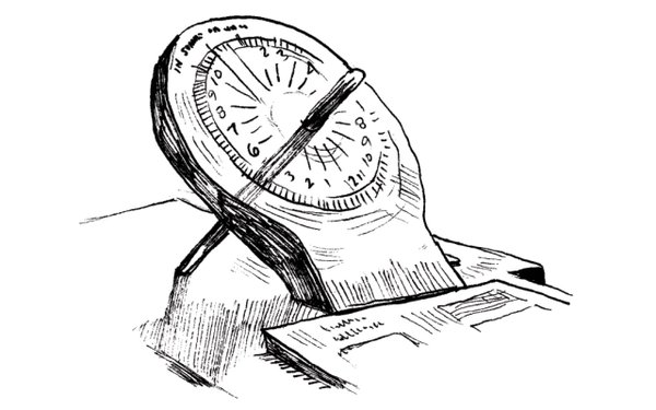Illustration of a sundial