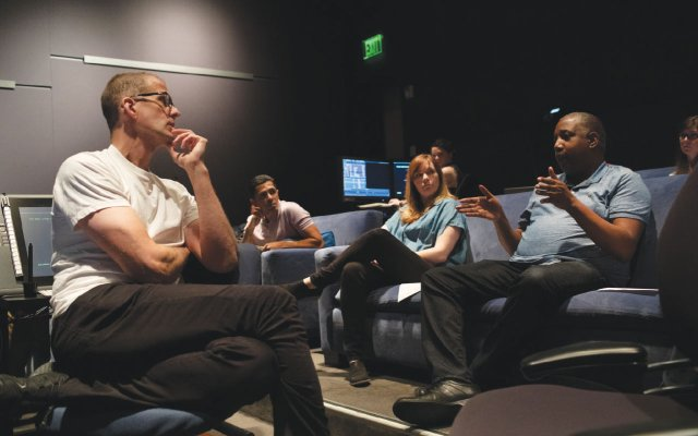 Pete Docter, codirector Kemp Powers, and team talk shop for Soul.