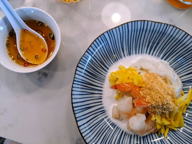 coconut shrimp dish