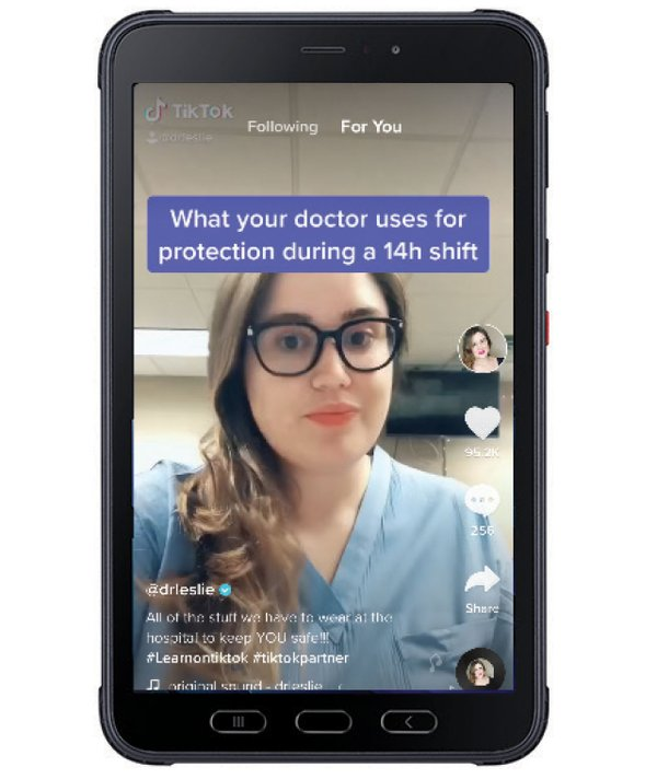 Doctor on a phone screen