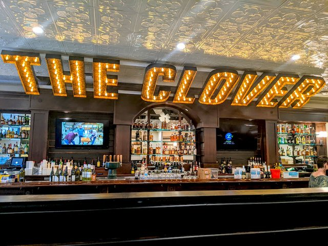 the clover bar in lights