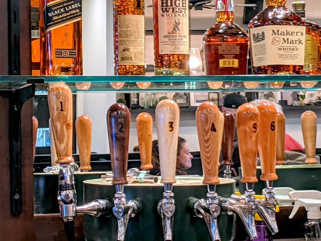 tap handles at the clover